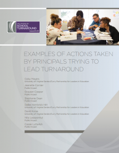 Examples of Actions Taken by Principals Trying to Lead Turnaround