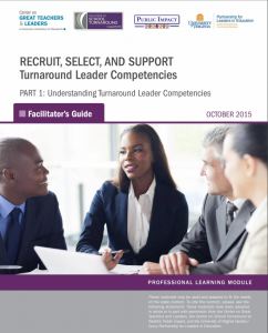Report cover for facilitator's guide